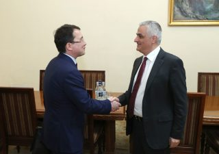 Փոխվարչապետ Մհեր Գրիգորյանն ընդունել է ԵԱՏՀ նախարար Տիմուր Ժակսիլիկովին