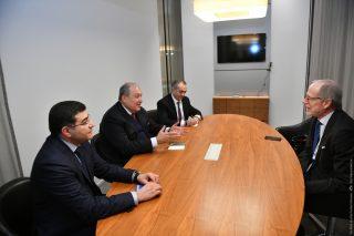 Արմեն Սարգսյանը հանդիպել է «Ռոքֆելեր եղբայրների հիմնադրամ»-ի նախագահի հետ