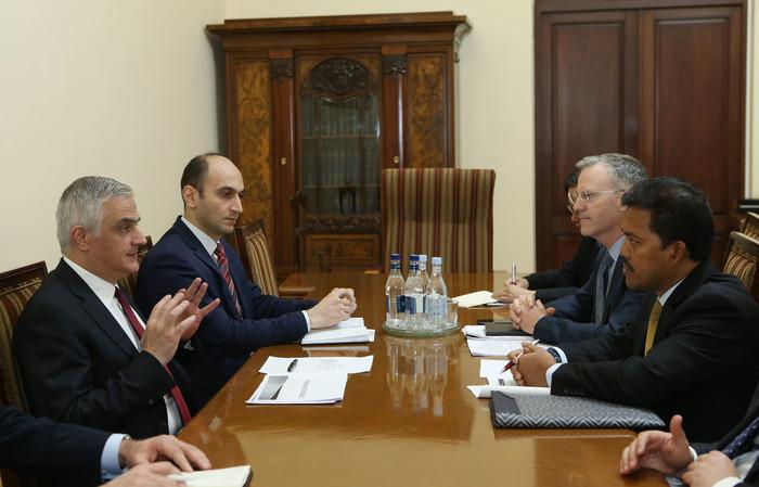 Փոխվարչապետ Մհեր Գրիգորյանն ընդունել է Ասիական զարգացման բանկի պատվիրակությանը