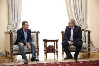 Տեղի է ունեցել վարչապետ Նիկոլ Փաշինյանի և ՌԴ կառավարության ղեկավար Դմիտրի Մեդվեդևի հանդիպումը