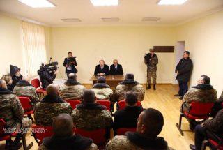 Բակո Սահակյանը և Արմեն Սարգսյանը Թալիշում հանդիպել են ապրիլյան պատերազմի մասնակիցների հետ
