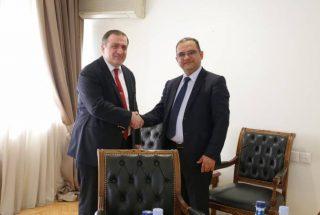 Տիգրան Խաչատրյանը Վրաստանի դեպանի հետ քննարկել է տնտեսական փոխգործակցության ամրապնդման հնարավորությունները