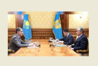 Կայացել է Ղազախստանի նախագահի և ԵԱՏՀ Կոլեգիայի նախագահ Տիգրան Սարգսյանի հանդիպումը