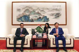 Նախարար Հակոբ Արշակյանը հանդիպել է Չինաստանի երկաթուղային կազմակերպության փոխնախագահ Ռեն Հոնգհենգին