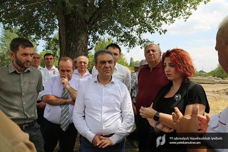 ՊԵԿ ղեկավարությունը Գյումրիում շրջել է ԱՏԳ սպասարկման կենտրոնի համար նախատեսված տարածքում