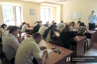ՊԵԿ. Գյուրիի նոր ավտոմաքսատան մասնագետների պատրաստման դասընթացի հայտատուներն անցել են օտար լեզուների իմացության թեստավորում