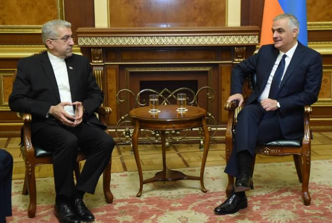 Փոխվարչապետ Մհեր Գրիգորյանն ընդունել է Իրանի Էներգետիկայի նախարարին