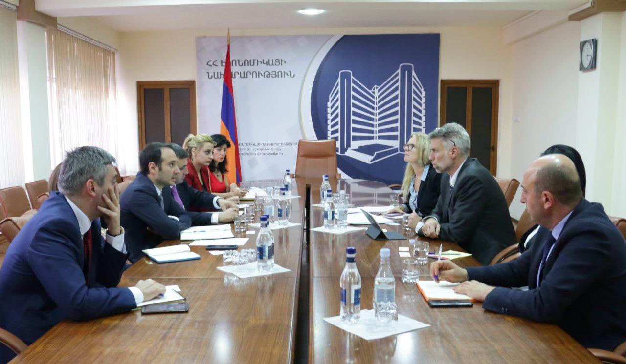 ՀՀ Էկոնոմիկայի նախարարի տեղակալները հանդիպել են Համաշխարհային բանկի թիմի հետ
