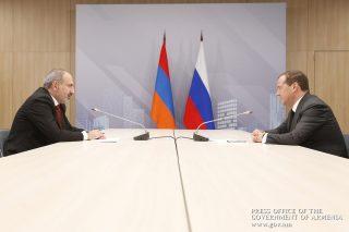 Վարչապետ Նիկոլ Փաշինյանը Մոսկվայում հանդիպում է ունեցել Դմիտրի Մեդվեդևի հետ