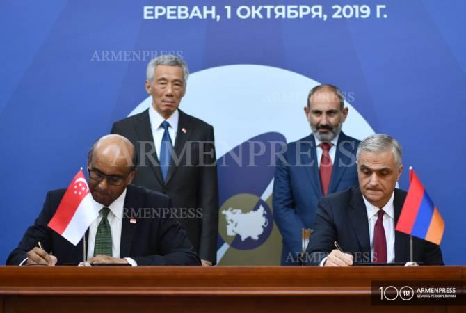 Սինգապուրի և Հայաստանի միջև կնքվեց Ծառայությունների, առևտրի ու ներդրումների մասին համաձայնագիր