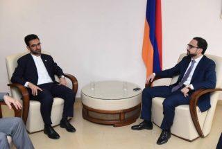 Փոխվարչապետ Տիգրան Ավինյանը հանդիպել է Իրանի կապի և տեղեկատվական տեխնոլոգիաների նախարարին