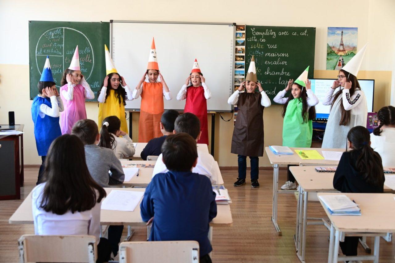 Ստեփան Գիշյան Հիմնադրամ. Հրազդանի թիվ 8 հիմնական դպրոցում բացվել է ֆրանսերենի դասասենյակ