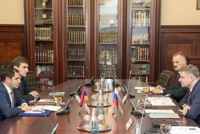 Սուրեն Պապիկյանը հանդիպել է «Ռուսական երկաթուղիներ» ԲԲԸ-ի գլխավոր տնօրեն Օլեգ Բելոզյորովի հետ