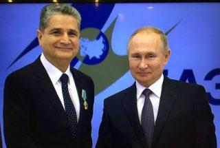 Վլադիմիր Պուտինը Տիգրան Սարգսյանին պարգևատրել Է Ռուսաստանի բարձր պետական պարգևով՝ Բարեկամության շքանշանով