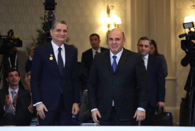 ՌԴ վարչապետը հանդիսավորությամբ Տիգրան Սարգսյանին փոխանցեց Ստոլիպինի անվան առաջին աստիճանի մեդալը