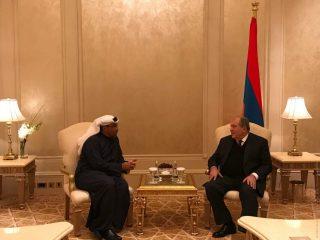 Արմեն Սարգսյանն Աբու Դաբիում հանդիպել է hայ-էմիրաթական միջկառավարական հանձնաժողովի համանախագահի հետ