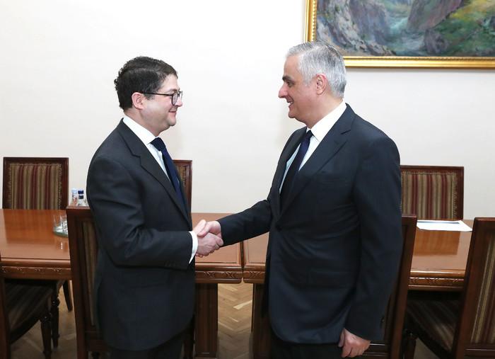 Փոխվարչապետ Մհեր Գրիգորյանն ընդունել է ՎԶԵԲ փոխնախագահին