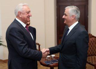 Փոխվարչապետ Մհեր Գրիգորյանն ընդունել է ԵԱՏՀ Կոլեգիայի նորանշանակ նախագահին