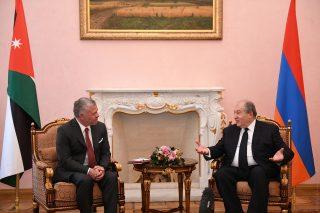 Տեղի է ունեցել Հայաստանի նախագահի և Հորդանանի թագավորի հանդիպումը. քննարկվել են մի շարք տնտեսական հարցեր