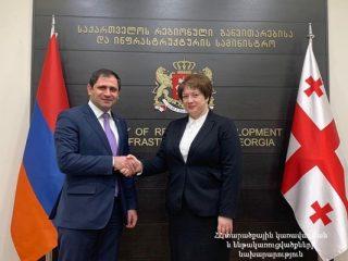 Սուրեն Պապիկյանը Վրաստանի փոխվարչապետի հետ խոսել է Բարեկամության կամրջի շինարարության ծրագրից