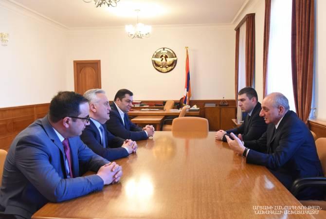 Բակո Սահակյանն ընդունել է Կենտրոնական բանկի նախագահ Արթուր Ջավադյանին