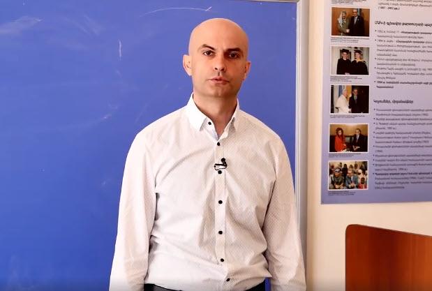 Հայկ Մնացականյանը տեսանյութով աշխակերտներին ներկայացրել է ֆինանսներ մասնագիտությունը