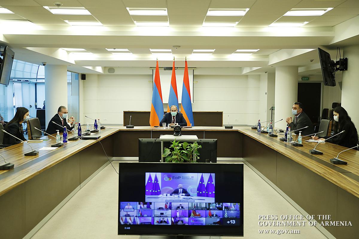 Վարչապետ Փաշինյանը մասնակցել է ԵՄ Արևելյան գործընկերության գագաթնաժողովի տեսակոնֆերանսին