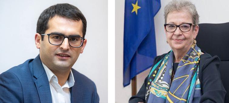 Հակոբ Արշակյանը տեսակապով հանդիպում է ունեցել Հայաստանում ԵՄ դեսպան Անդրեա Վիկտորինի հետ