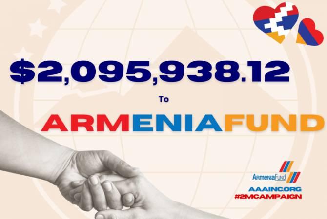 Ամերիկայի հայկական համագումարը ավելի քան 2 միլիոն դոլար կնվիրաբերի «Հայաստան» հիմնադրամին