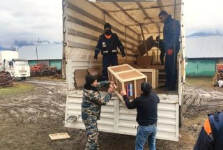 ՌԴ արտակարգ իրավիճակների նախարարությունը 80 տոննա հումանիտար օգնություն է առաքել Լեռնային Ղարաբաղ