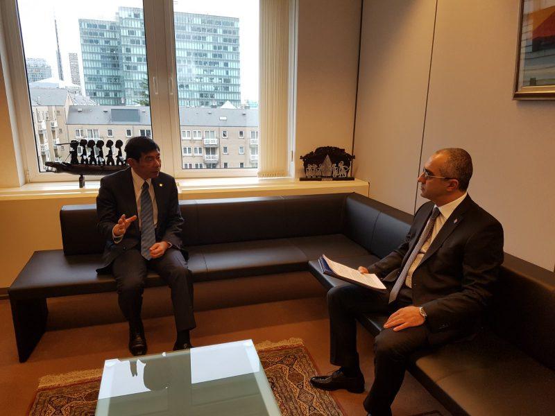 ՊԵԿ նախագահ Էդվարդ Հովհաննիսյանը հանդիպել է ՀՄԿ գլխավոր քարտուղար Կունիո Միկուրիային