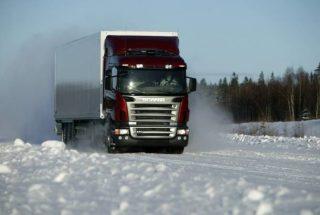 Վրաստանում ձնատեղումները խնդիրներ են ստեղծել բեռնատար ավտոմեքենաների վարորդների համար