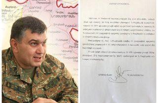 ՀՀ ԶՈՒ երրորդ բանակային կորպուսի հրամանատար, գեներալ-մայոր Գրիգորի Խաչատուրովը շարունակում է պահանջել Փաշինյանի հրաժարականը