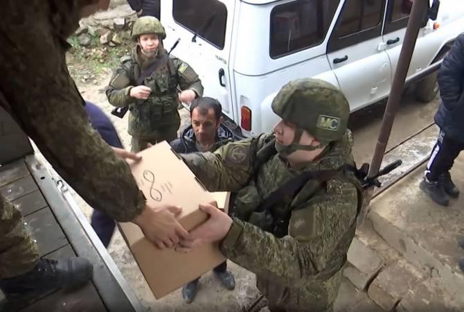 ՌԴ ՊՆ. Խաղաղապահները Խնածախ բնակավայրին մարդասիրական օգնություն են փոխանցել