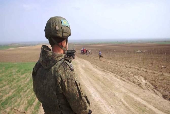 ՌԴ ՊՆ. Խաղաղապահները Լեռնային Ղարաբաղում ապահովում են գյուղատնտեսական աշխատանքների անվտանգ իրականացումը