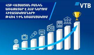 ՎՏԲ-Հայաստան Բանկը ԶԼՄ-ներում հիշատակումների թվով դարձել է առաջատար 2021թ.-ի 1-ին եռամսյակի արդյունքներով