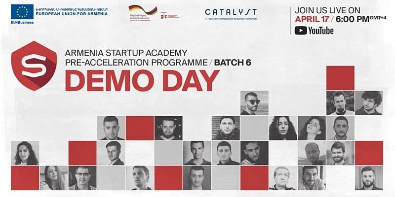 Վաղը կանցկացվի Հայաստանի ստարտափ ակադեմիայի նախաաքսելերացիոն ծրագրի 6-րդ շրջանի օնլայն Դեմո օրը