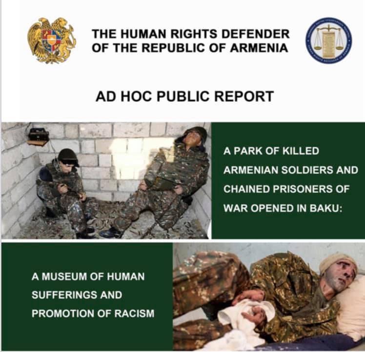 ՀՀ ՄԻՊ-ը արտահերթ զեկույց է ներկայացրել Բաքվում բացված Ռազմավարի պուրակի ադրբեջանական ընկալումների մասին
