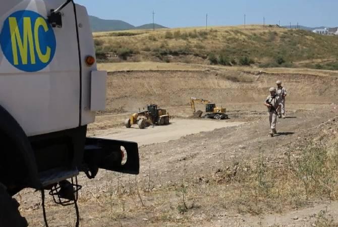 Խաղաղապահներն ապահովում են Արցախում ջրամբարի շինարարական աշխատանքների անվտանգությունը