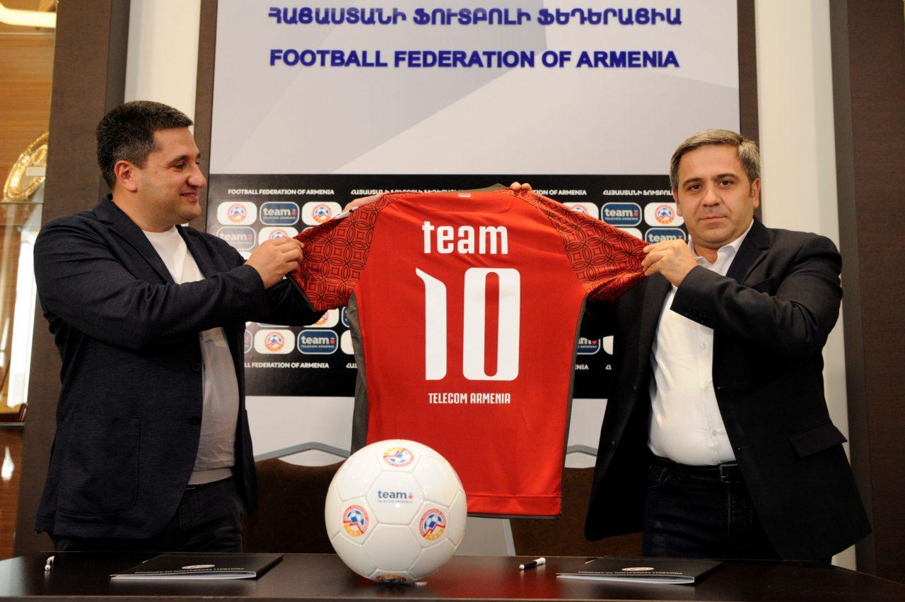 Team Telecom Armenia-ն՝ ֆուտբոլի ազգային հավաքականի գործընկեր