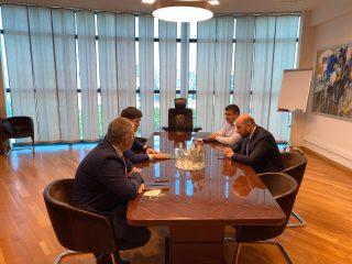 Կենտրոնական բանկ. Մարտին Գալստյանը հանդիպել է ԵԱՏՀ կոլեգիայի անդամի Ռուսլան Բեկետաևի հետ