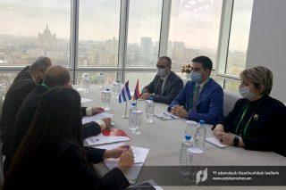ՊԵԿ նախագահը Միջազգային մաքսային ֆորումի շրջանակում հանդիպել է Կուբայի մաքսային ծառայության գլխավոր տնօրենի հետ
