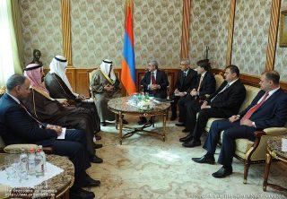 Президент Серж Саргсян принял министра финансов Государства Кувейт