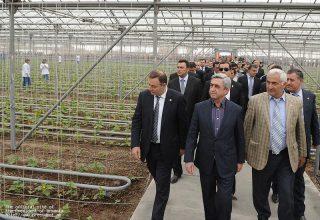 Президент Серж Саргсян с рабочим визитом отправился в Армавирскую область