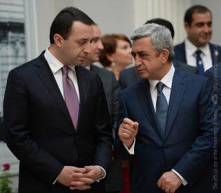 Серж Саргсян сегодня встретился с Премьер-министром Грузии Ираклием Гарибашвили