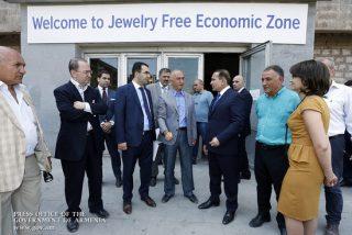 Овик Абраамян ознакомился с процессом организации ювелирной свободной экономической зоны «Меридиан»
