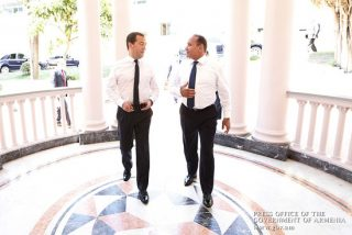 Овик Абраамян и Дмитрий Медведев обсудили широкий круг вопросов армяно-российского сотрудничества