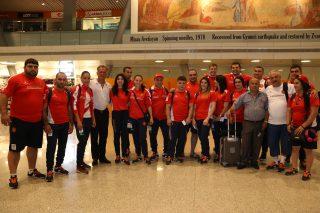 Ucom. первая группа спортсменов олимпийской сборной вылетела в Рио-де-Жанейро