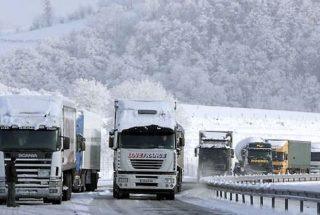 Верхний Ларс закрыт для грузовых автомобилей