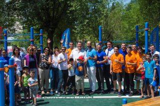 При поддержке Конверс Банка в Мецаморе открылась профессионалная спортивная арена